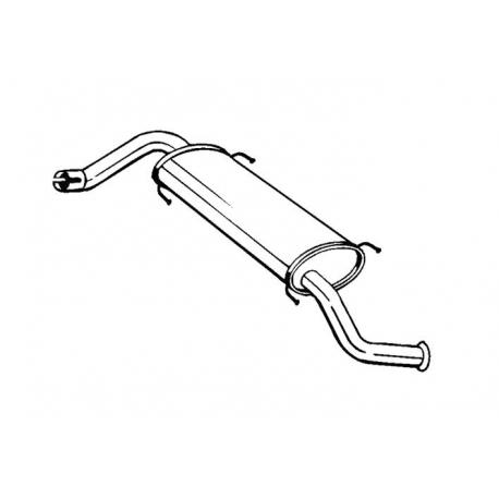 Tłumik końcowy Bosal 281-873 FIAT Ducato IV 2.2 JTD Turbo Diesel 2.3 JTD Turbo Diesel 2006-