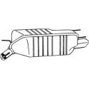Tłumik końcowy Bosal 185-403 OPEL Calibra 2.0i 2.5i