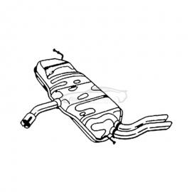 Tłumik końcowy Bosal 227-231 Seat Altea 5P1 Leon 1P1 1,6TDi 1,9TDi